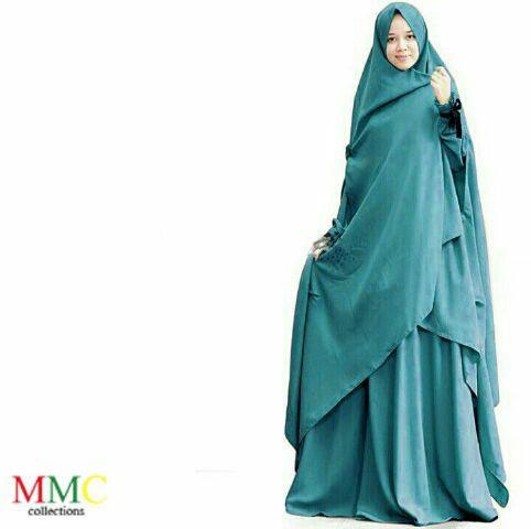 model gamis syari busui modern terbaru setelan jilbab