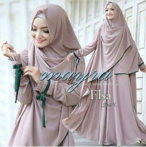 Model Gamis Syari Modern Setelan Fashion Hijab Modis Terkini