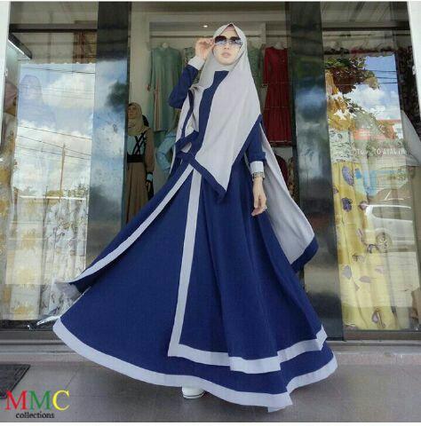 Model Gamis Syari Modern Setelan Jilbab Bergo Terbaru