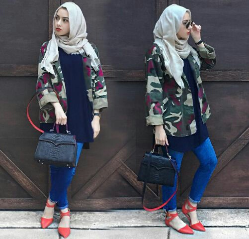 Setelan Hijab Celana Murah 4 in 1 Modis Modern Model Terbaru