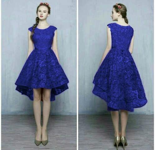 Model Baju Dress Pendek Bahan Brukat Cantik & Murah