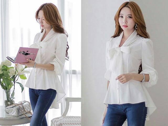 Baju Atasan Lengan Panjang Cantik Modis Model Terbaru