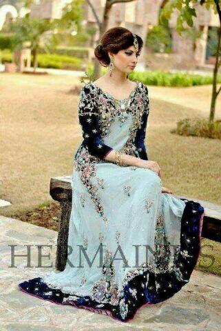 Baju India Gaun Long Dress Muslim Cantik Model Terbaru