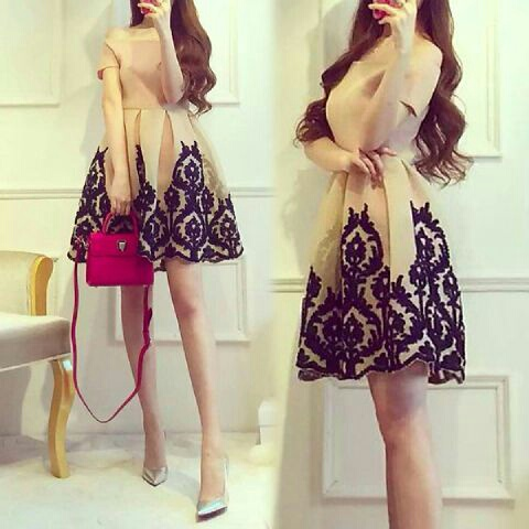 Baju Mini Dress Pendek Bunga Cantik dan Murah Terbaru