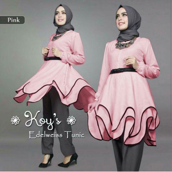 Baju Tunik Setelan Hijab Celana Modis dan Murah Model Terbaru