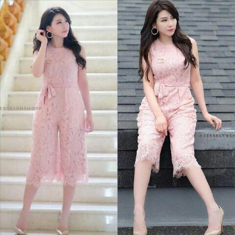 Model Baju Jumpsuit Cantik Bahan Lace Modis Model Terbaru
