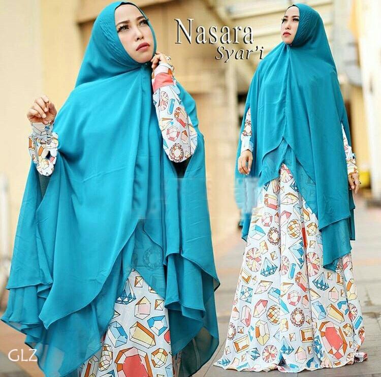 Model Baju Muslimah Gamis Syari Modern Terbaru Setelan Khimar