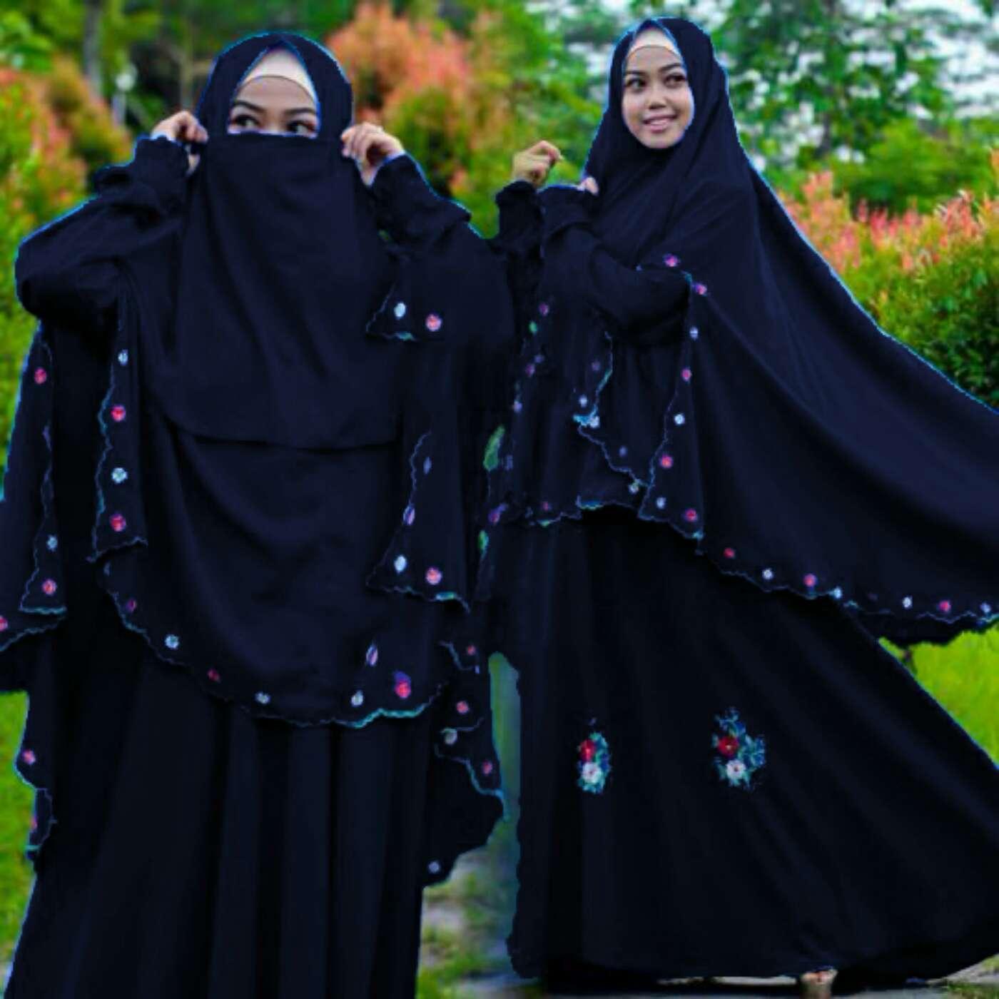 Model Gamis Syari Cantik Terbaru Desain Modern Masa Kini