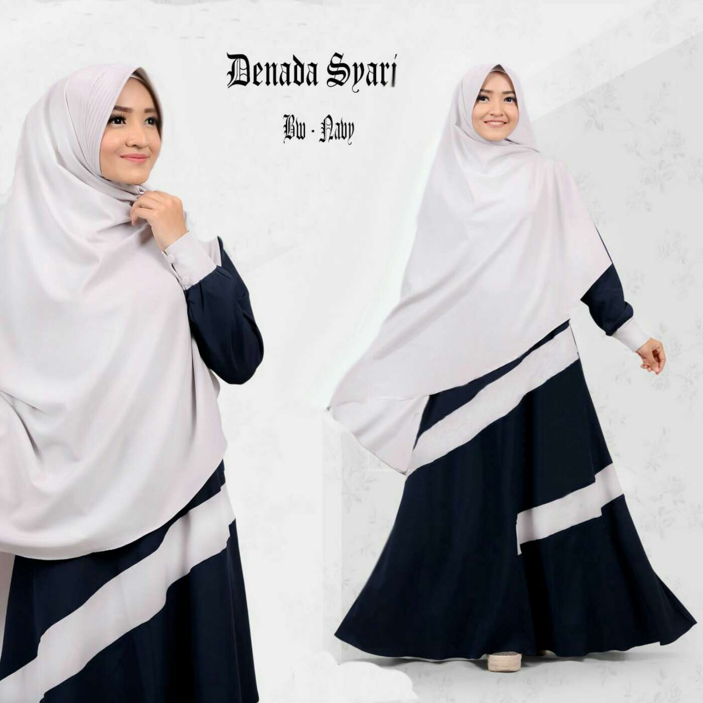 Model Gamis Syari Simple Modern Terbaru Cantik dan Murah  RYN Fashion
