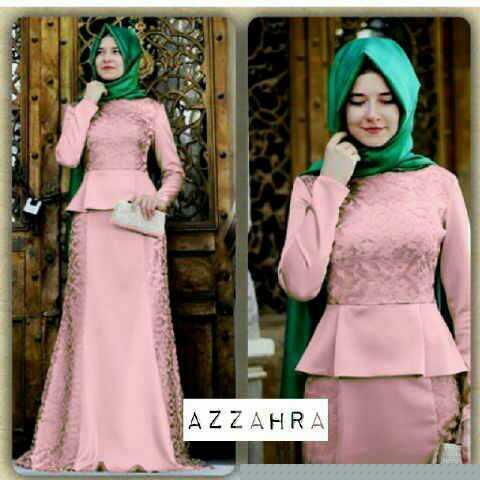 Model Gamis Terbaru Baju Muslimah Setelan Hijab Modis Modern