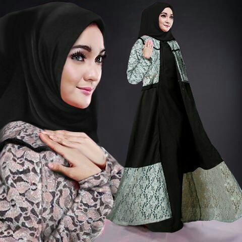 Model Gamis Terbaru Baju Setelan Long Cardigan Muslim Modis
