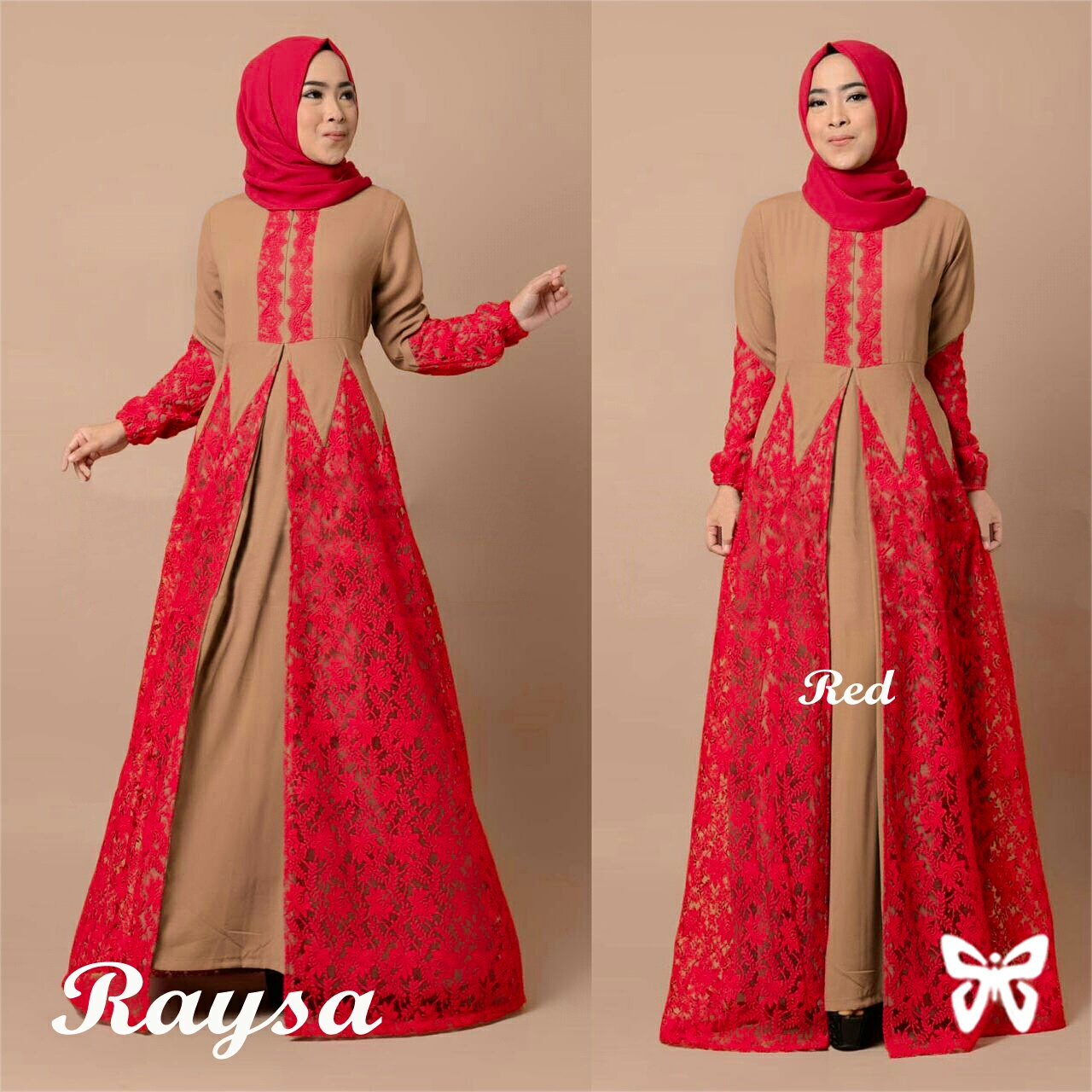 Model  Gamis Terbaru  Long Dress Muslim Cantik Kombinasi