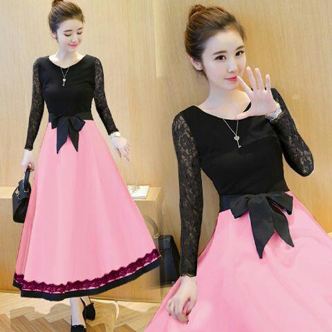 Baju Gaun Cantik Long Dress Model Terbaru Modern & Murah