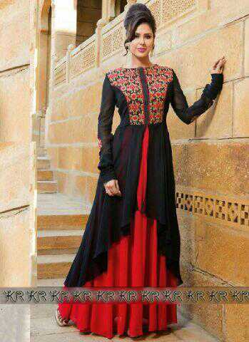 Baju Gaun Long Dress Cantik Desain Model India Terbaru