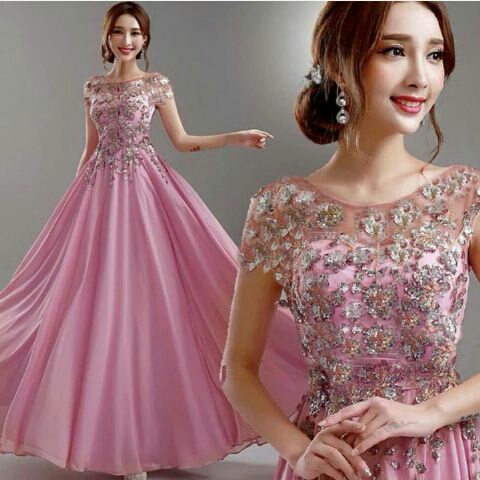 Baju Gaun Long Dress Pesta Model Terbaru Cantik dan Murah