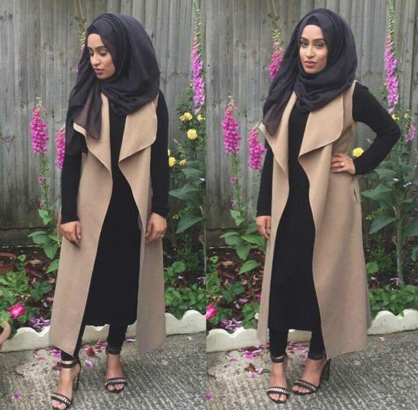 Baju Setelan Hijab Celana Modis 4 in 1 Long Cardigan Terbaru