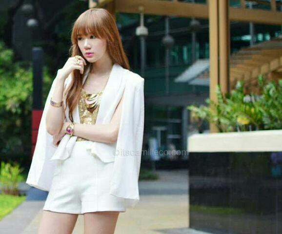 Cape Blazer Wanita Model Terbaru Cantik Modern Ala Korea