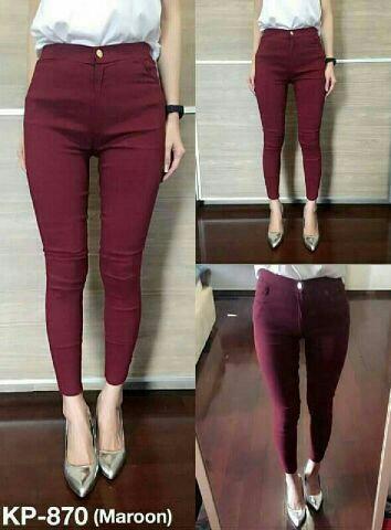 Celana Jegging Pants Panjang Wanita Modern Model Terbaru