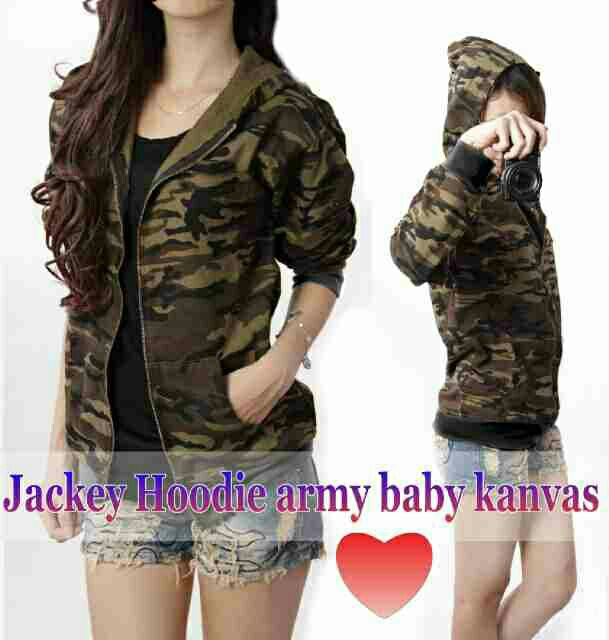 Jaket Wanita Motif Army Model Terbaru Keren & Modern