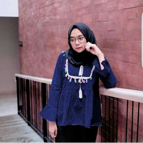 Model Baju Atasan Wanita Lengan Panjang Modis Terbaru