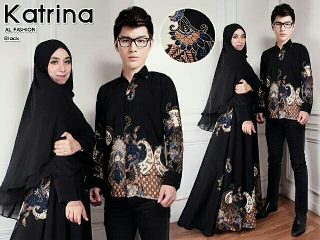 Model Baju Batik Couple Long Dress Terbaru Cantik Modern Ryn Fashion