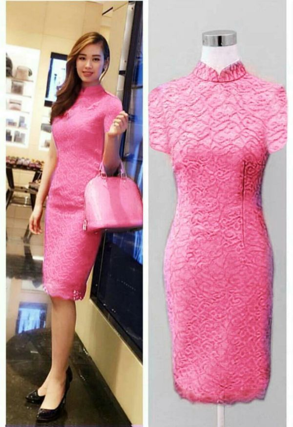 Model Baju Dress Pendek Brukat Cantik Terbaru dan Murah