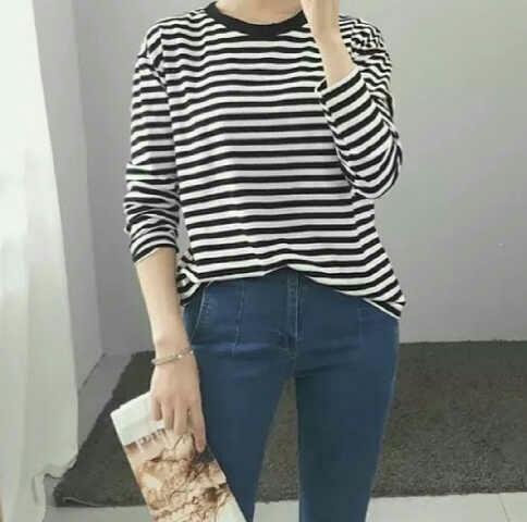Model Baju Kaos Belang Terbaru Wanita Lengan Panjang