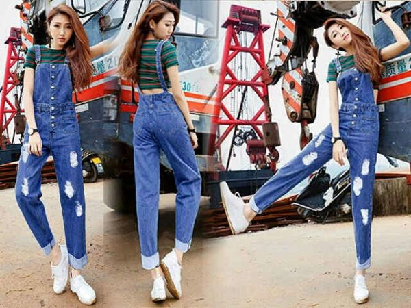 Model Baju Kodok Jeans Wanita Celana Panjang Jaman Sekarang
