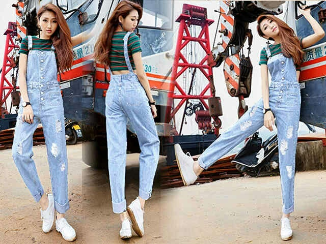 Model Baju Kodok Jeans Wanita Celana Panjang Jaman Sekarang Warna Biru Terang model baju kodok jeans wanita celana panjang jaman sekarang,Model Baju Wanita Skrg