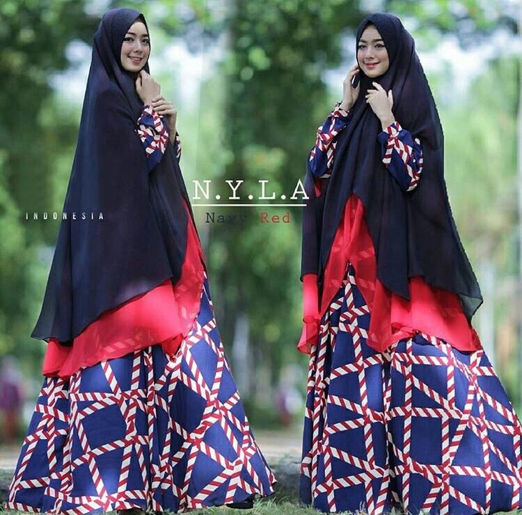 Model Busana Muslimah Setelan Gamis Syari Modern Terbaru