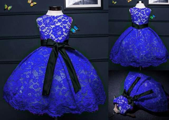 Model Terbaru Baju Dress Pendek Brukat Anak Perempuan