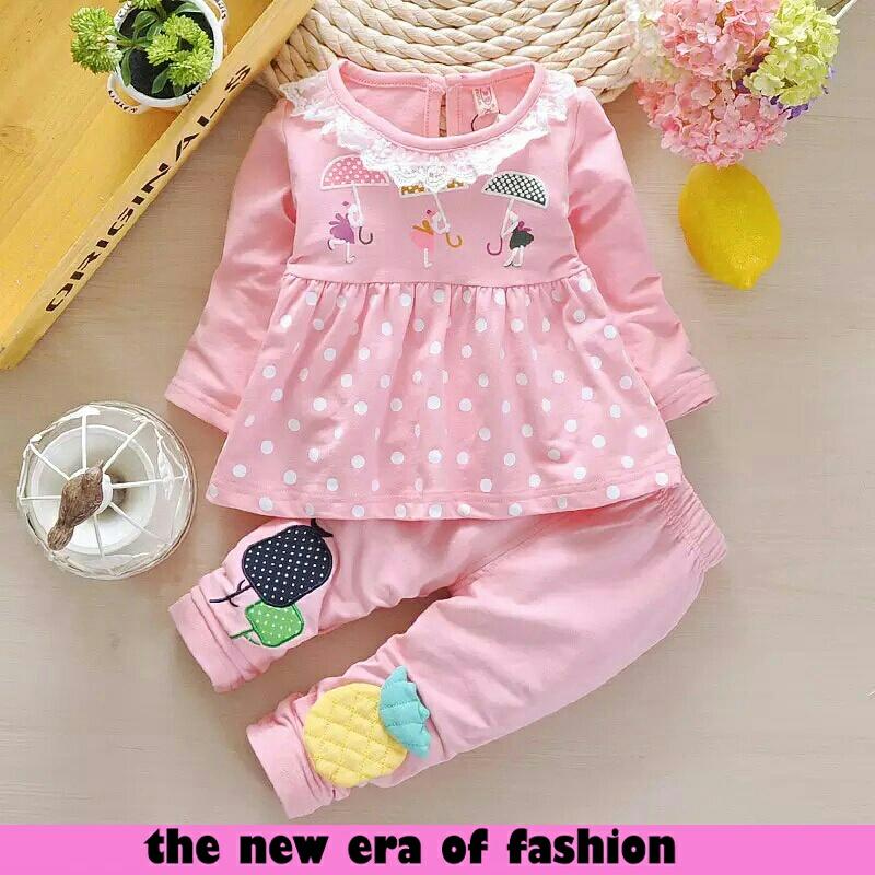 Setelan Baju Anak Perempuan Terbaru Cantik dan Lucu