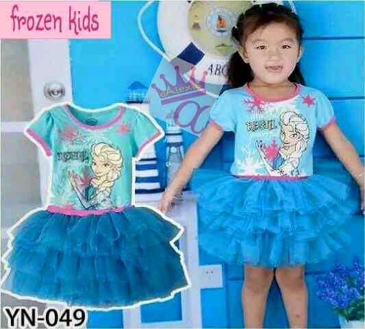 Setelan Baju Dress Tutu Frozen Anak Perempuan Model Terbaru