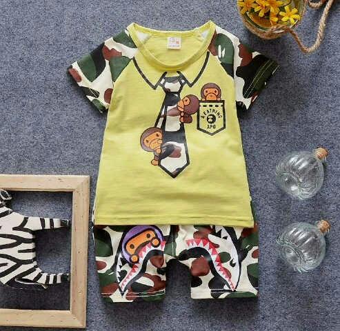 Setelan Baju Kaos Anak Laki-laki Motif Model Terbaru