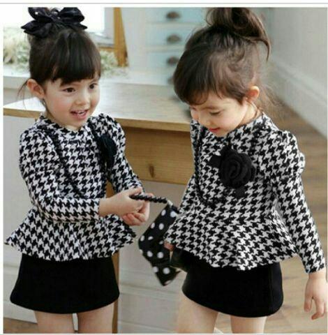 Setelan Baju & Rok Mini Anak Perempuan Cantik Model Terbaru