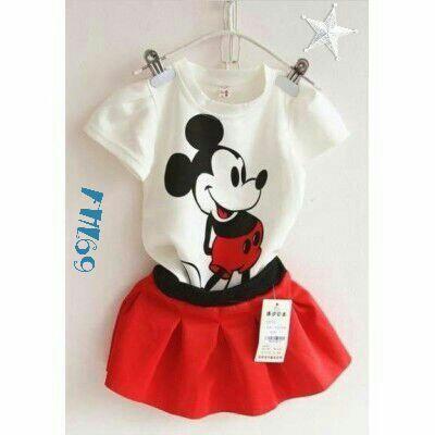 setelan Baju & Rok Mini Anak Perempuan Cantik Lucu Terbaru
