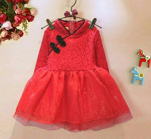 Baju Dress Anak Perempuan Desain Shanghai Model Terbaru