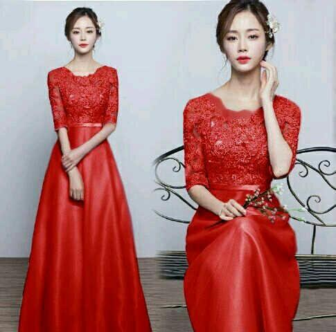 Baju Gaun Long Dress Pesta Cantik Dan Murah Model Terbaru