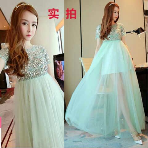 Baju Gaun Long Dress Tile Cantik Model Terbaru dan Modern
