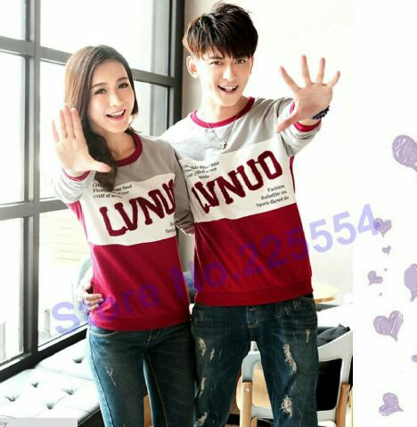 Baju Kaos Couple Lengan Panjang Model Terbaru Keren Modern