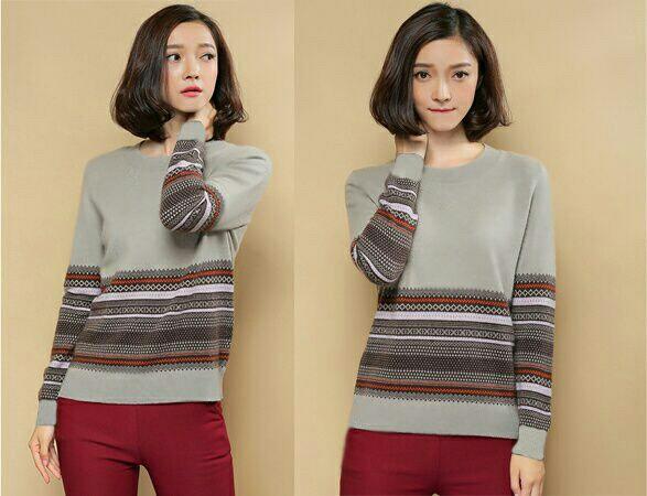 Baju Kaos Wanita Modern Lengan Panjang Model Terbaru