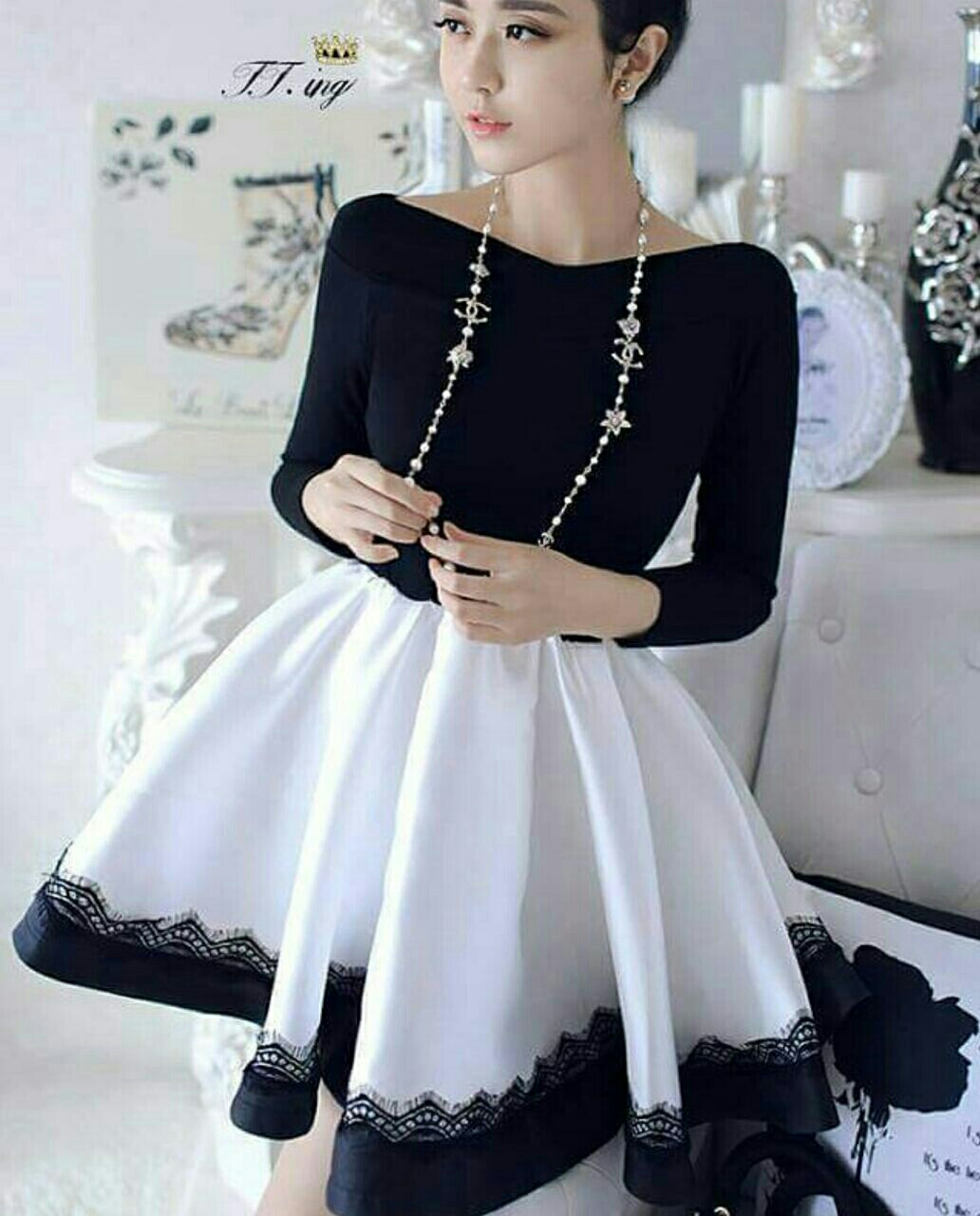 Baju Mini Dress Simple Cantik Modern Model Terbaru