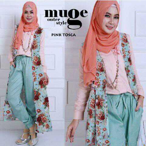 Baju Setelan Fashion Hijab Celana Murah Model Terbaru