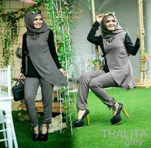Baju Setelan Hijab Celana Wanita Dewasa Murah Model Terbaru