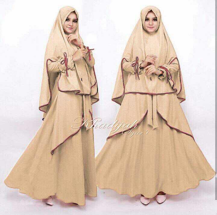 Baju Setelan Hijab Gamis Syari Jilbab Bergo Modern Modis