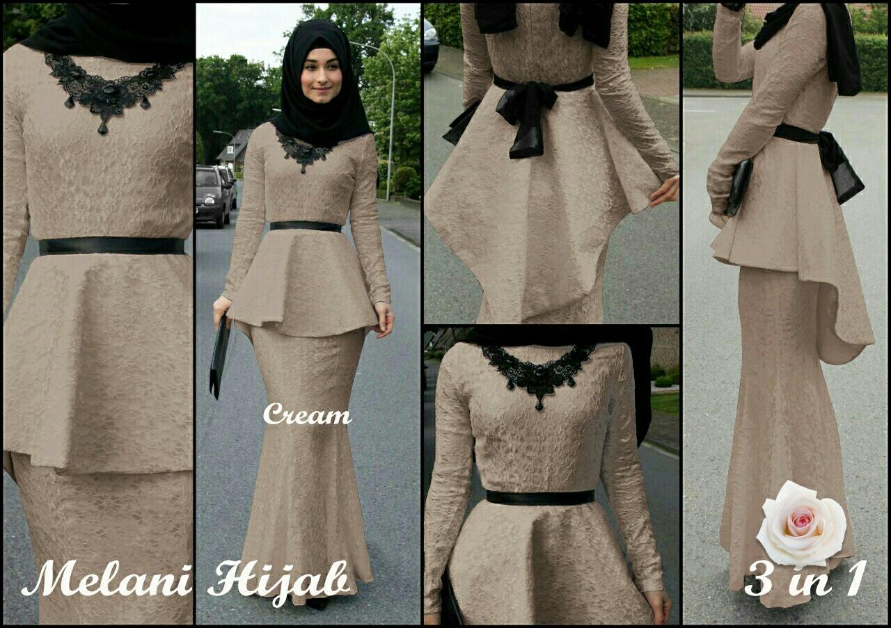 Baju Setelan Hijab Rok Modis Desain Model Penguin Modern Terbaru Gamis Khimar Panjang Pinguin