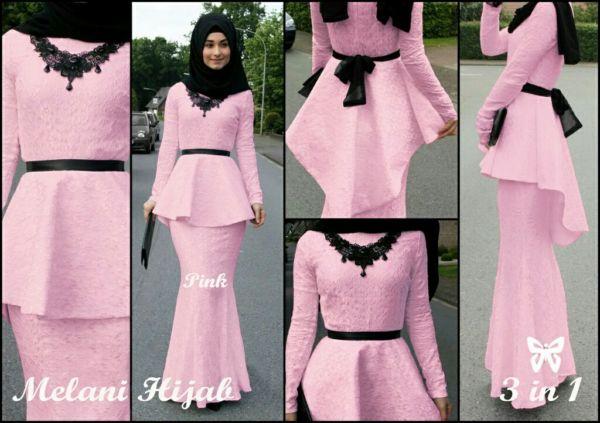 Baju Setelan Hijab Rok Modis Desain Model Penguin Modern Terbaru