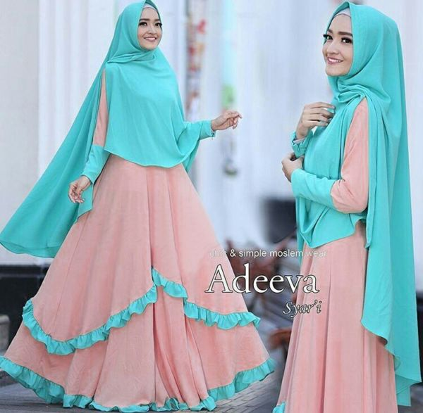 Desain Baju Muslimah Model Gamis Syari Modern Terbaru