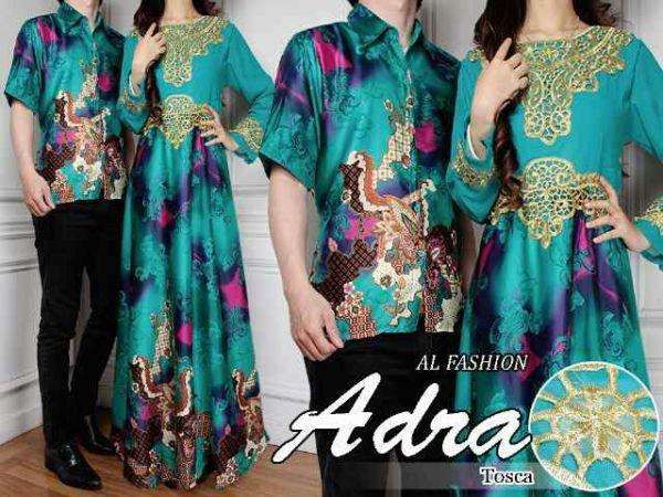 Model Baju Batik Couple Motif Batik Long Dress Terbaru
