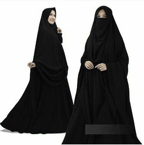 Model Baju Gamis Syari Modern Terbaru Setelan Bergo Cadar